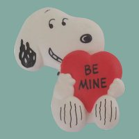 Vintage 1958 Hallmark Snoopy Be Mine Heart Pin