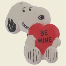Vintage 1958 Hallmark Snoopy Be Mine Heart Pin