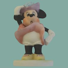 Vintage Walt Disney Minnie Mouse on a Windy Day Figurine Porcelain