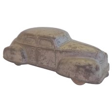 Vintage Sun Rubber Toy Car 1936 With Patent