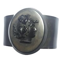 ANTIQUE Victorian Mourning Vulcanite Bacchante Bracelet