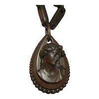 Victorian Vulcanite necklace