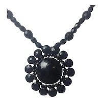 Antique Victorian Mourning French Jet necklace