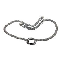 Cut Steel: Multi Strand: Upcycled necklace