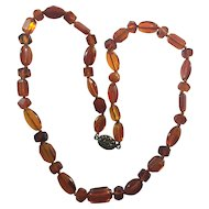 Antique Victorian carved Natural Amber necklace