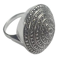 Art Deco German Chunky Sterling Silver ring