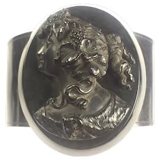 Antique Victorian Mourning Vulcanite Bacchante bracelet