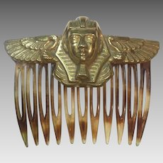 Egyptian Revival Miriam Haskell Hair comb: RARE