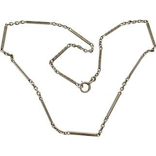 Antique Victorian solid 10K chain