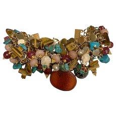 Chain Maille Natural Gems bracelet