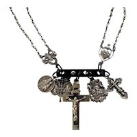Sterling Silver Religious Charm necklace
