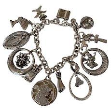 Tiffany Sterling Lock bracelet/ Goddess Charms