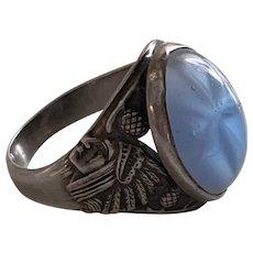 Antique Art Nouveau Indian Chief ring