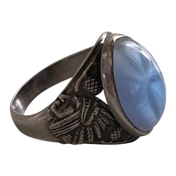 Antique Art Nouveau Indian Chief ring