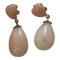 Angel skin Coral hearts and teardrops