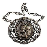 Large Rare 950 Athena Diamond necklace