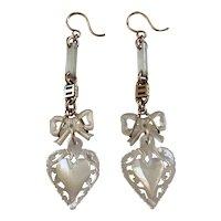 Victorian MOP 10k gold earrings