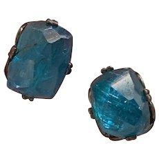 Natural Rose Cut Apatite gemstone earrings