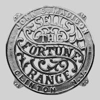 1912 Fortune Range Trivet, Refinished
