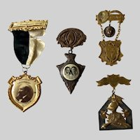 Four Antique and Collectible Fraternal Medals