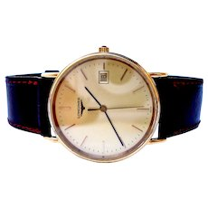 Vintage Watch LONGINES Quartz Classic Flat Ref L.4.636.2 Case Gold Plated 34mm