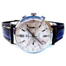Vintage Watch Chronograph TRESSA Valjoux 7730 Steel 38mm Working 1950c Men