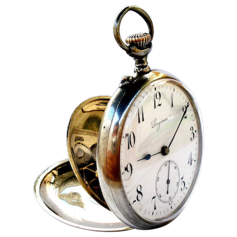 Vintage Pocket Watch LONGINES Art Deco Open Face Cal. 18.89N Steel 1910c Working
