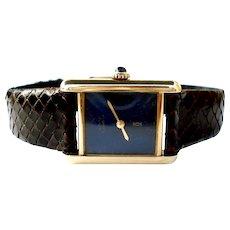 Watch Swiss Must de Cartier Paris 18k Gold Plated 925 Mechanical Working Lady