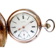 Antique Pocket Watch LONGINES Hunter Cal. 18.50 Art Deco 1910c Working 51mm