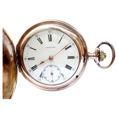 Antique Pocket Watch LONGINES Hunter Cal. 18.50 1910c Working 51mm