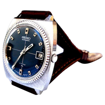 Vintage Watch Japan SEIKO Automatic 36mm Working Men 1970c