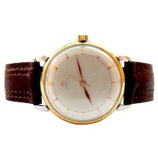 Vintage Watch, OMEGA Calatrava, Bumper Self Winding, Ref 2446-5, Caliber 351, Case Steel and Gold, 35mm
