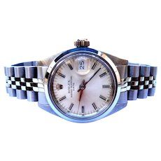 Vintage Watch ROLEX Oyster Perpetual Date Automatic Ref. 6916 Lady 1980c Working