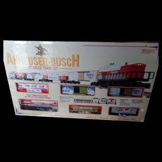 K-Line Trains Anheuser Busch O Gauge Train Set MP-15 Diesel Engine Locomotive