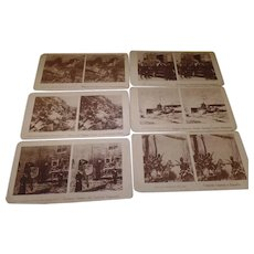 Rare Set of 6  Assorted, Antique Stereoscope cards, War Related 1916-1945