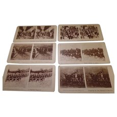 6- Rare  Assorted, Vintage Stereoscope cards, War Related 1916-1945     (Lot 2)