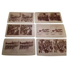 6- Rare  Assorted, Antique Stereoscope cards, War Related 1916-1945     (Lot 3)