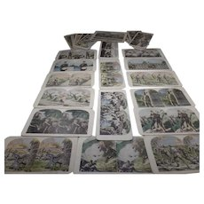 29- Rare  Assorted, Antique Stereoscope cards, War Related 1916-1945