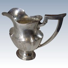 Antique 1911, Sterling Silver, Pitcher, By Gorham, Plymouth Pattern