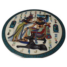 Fathi Mahmoud Egyptian Plate 1942 Collectable, Sculpture (Made in Egypt)