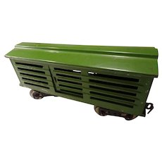 Prewar Lionel 113 Green Cattle Railroad Car  Standard Gauge,