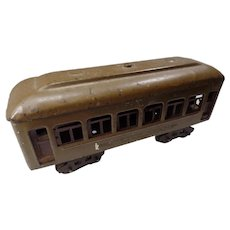 Lionel 610, Late Pullman Railroad Car, Pre War, 1926-30 0 Gauge