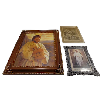 Set of (3) Religious Pictures/Prints, Of Christ,