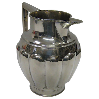 American Federal coin silver water pitcher by John McFarlane of Boston 1796 - 1800