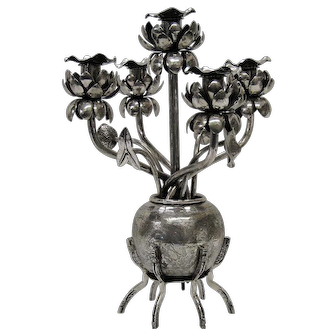 Chinese Export silver Candelabra/centerpiece
