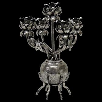 Chinese Export silver Candelabra/centerpiece