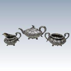 George IV sterling tea set, London 1828