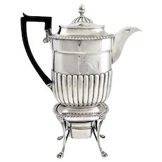 George III Coffee Pot on Stand London 1809