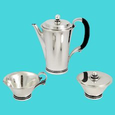 Pyramid by Georg Jensen 3 piece Coffee set