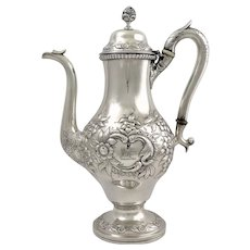 Baltimore Coin silver coffeepot circa 1830 by A. E. Warner